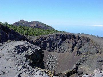 De vulkaan Hoyo Negro