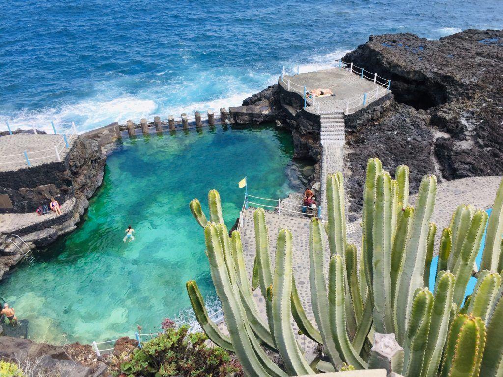 Charco Azul in het noordoosten van La Palma